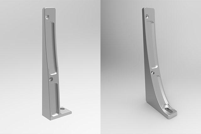 Soportes de aluminio reforzado