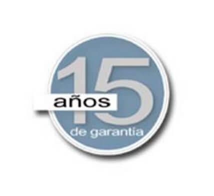 15 AÑOS DE GARANTÍA